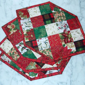 Christmas Squares Place Mat Set of 4