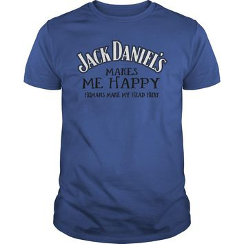 Jack Daniel's makes me happy shirt Premium Fitted Guys Tee