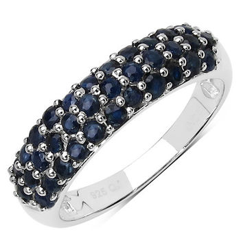 1.53 Carat Genuine Blue Sapphire .925 Sterling Silver Ring