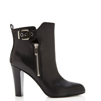 Sergio Rossi Dalston Leather Ankle Boots Black