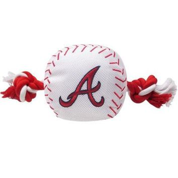 CUPUPHA Atlanta Braves Nylon Baseball Rope Pet Toy