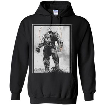 Marvel Avengers Infinity War Thanos Sketch Graphic  Pullover Hoodie 8 oz