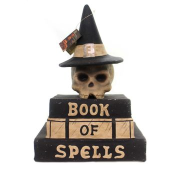 Halloween BOOK OF SPELLS Paper Skeleton Tj7738