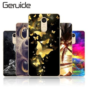 "Geruide Cover For Xiaomi Redmi Note 4X (Global Version) 5.5""Case TPU Back Cover Phone Case For Redmi Note 4X Soft Silicon Cover"