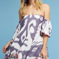 Off-The-Shoulder Ikat Dress