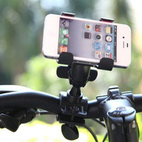 360 Degree Rotatable Bicycle Bike Phone Holder Handlebar Clip Stand Mount Bracket for iPhone Samsung Cellphone GPS MP4 MP5 Phone Accessories PA1567