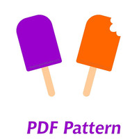 Popsicle Applique PDF Pattern - Quilt Block  - Sewing - Crafts - Summer Fun Beach Park - Instant Download