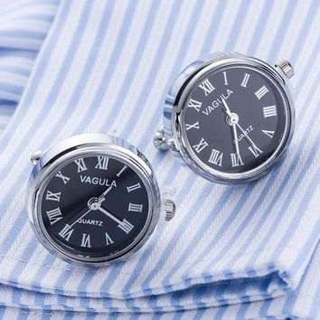 New Arrival Real Watch Cufflinks With Battery