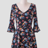 Colors Of The Wind Floral Tunic Dress