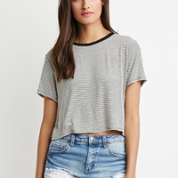Cropped Boxy Striped Tee