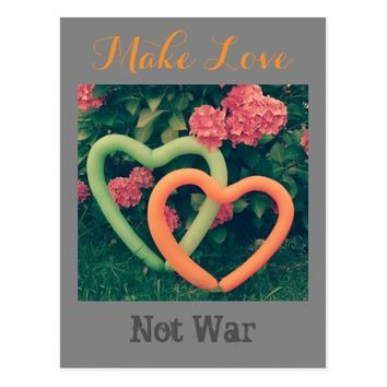 Balloon Hearts - Make Love, Not War Postcard