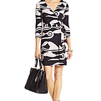 DVF New Julian Two Mini Silk Jersey Wrap Dress