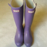 Hunter Tall Original Wellington Purple Rain Boots size 7 / Same Day Ship
