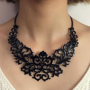 Shiny Stylish New Arrival Gift Jewelry Hollow Out Sweater Chain Necklace [186326908954]