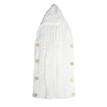 White Baby Crochet Sleeping Bag