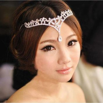 PEAPIX3 The bride crown headdress frontlet wedding dress accessories = 1930161284