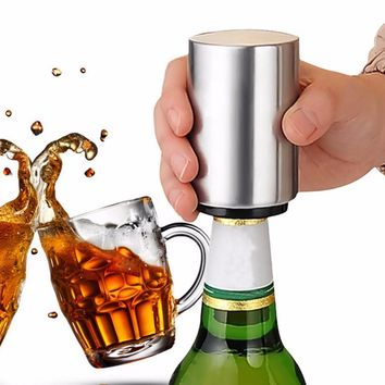 2017 Automatic Beer Bottle Opener Stainless Steel Material Bar Wine Beer Soda Glass Cap Bottle Opener Portable Open Tool