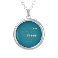 Every Knee Shall Bow Turquoise Pendant