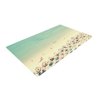 "Ingrid Beddoes ""Happy Summer"" Beach Woven Area Rug"