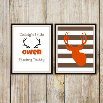 Daddy's Little Hunting Buddy Personalized Print - Boy's Room Decor // Nursery // Deer Print - Deer Hunting Art - 8x10 Print