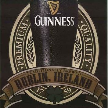 Guinness Beer Dublin Tradition Poster 24x36