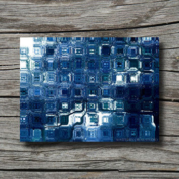 Limited edition art modern geometric art ocean decor abstract photography white navy blue aqua bathroom decor office decor living room decor