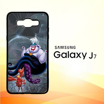 Ursula Octopus Little Mermaid D0096 Samsung Galaxy J7 Edition 2015 SM-J700 Case