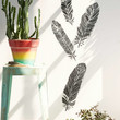 Plum & Bow Henna Feathers Wall Decal Set - Urban Outfitters