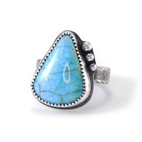 Turquoise and Silver Ring Size 7.25