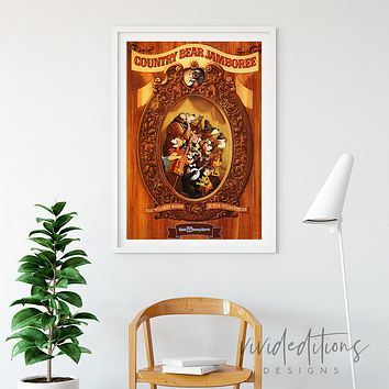 Country Bear Jamboree, Disney World Poster