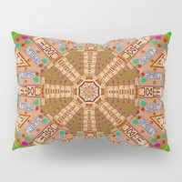 sweet crackers with chocolate mandala Pillow Sham by Pepita Selles