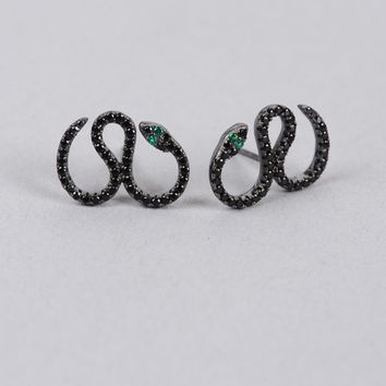 Armitage Avenue Pave Serpent Earrings