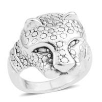 Sterling Silver Panther Ring