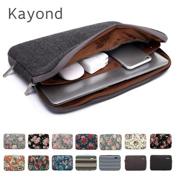 "New Brand Kayond Sleeve Case For Laptop 11,12,13,14,15"",15.6"",17 inch,Bag For MacBook Air Pro 13.3"",15.4 Free Drop"