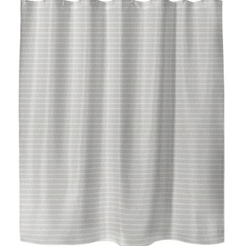 LOOSE EDGES NATURAL Shower Curtain By Tiffany Wong