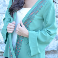Fields Of Green Cardigan: Seafoam Green | Hope's