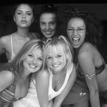 "Spice Girls Poster Black and White Poster 24""x36"""