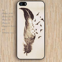 iPhone 5s 6 case colorful  feather pen phone case iphone case,ipod case,samsung galaxy case available plastic rubber case waterproof B333