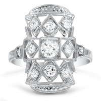 14K White Gold The Jestine Ring