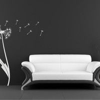 Dandelion Wall Decal Vinyl Wall Stickers by singlestonestudios