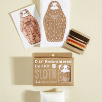 Have Me in Stitches Embroidery Kit in Sloth