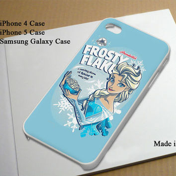 Frozen Elsa Frosty Flakes Best Seller Phone Case on Etsy for iPhone 4, iPhone 4s, iPhone 5 , Samsung Galaxy s3 and Samsung Galaxy s4