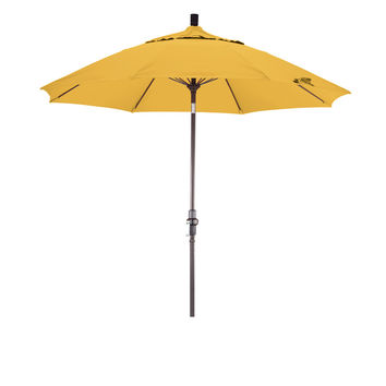 9 Foot Sunbrella 5A Fabric Fiberglass Rib Crank Lift Collar Tilt Aluminum Patio Umbrella with Bronze Pole