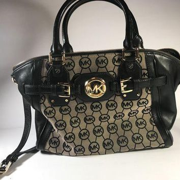ICIKLO8 Michael Kors Signature Circle MK Purse/Handbag