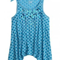 Embellished Polka Dot Flowy Tank | Girls Clearance Features | Shop Justice
