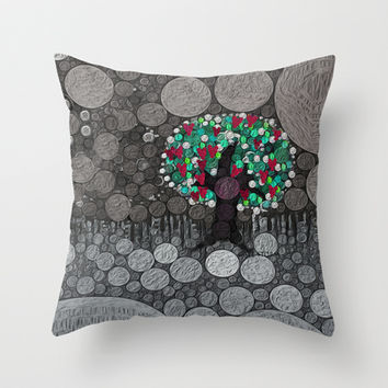 :: Tree of Hearts :: Throw Pillow by GaleStorm Artworks