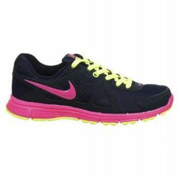 Tagre™ Nike Womens Revolution 2 Obsidian Pink Volt Athletic Running Shoes Size 8.5