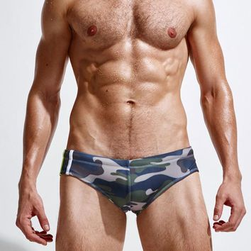 Camouflage Men Bikini Swimwear Swim Briefs Sexy Man Swimsuit Low Waist Beach Sportswear Shorts Panties Boy Swimming Bathing Suit