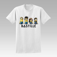 bastille minions  For T-Shirt Unisex Aduls size S-2XL