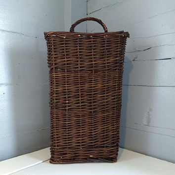 Tall, Hanging, Twig, Basket, Floral Basket, Rustic, Country, Farmhouse, Home Decor, Photo Prop, RhymeswithDaughter